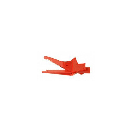 Pince crocodile IEC rouge connecteur 4 mm