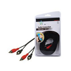 Cordon HQB-001-10 Basic audio cable 2x RCA mâle- 2x RCA mâle 10M