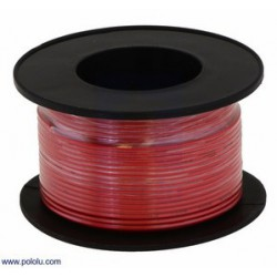 POLOLU 2602 fil cablage noir 30 AWG 30M rouge