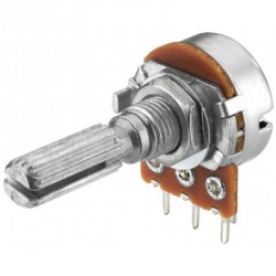 Potentiomètre VRB-100M10  mono 10K LIN  axe 6mm