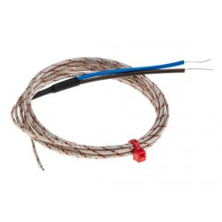Thermocouple type K, sonde Ø 1/0.3mm, L 2m, +400°C max