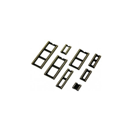Support Circuit intégré tulipe 24 broches large